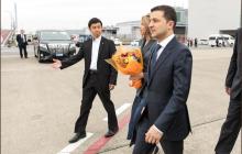 Зеленский прибыл в Японию с официальным визитом в компании супруги Елены - кадры