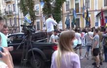 Нацкорпус пришел к СБУ с ультиматумом по ОПЗЖ и партии Шария - кадры акции протеста