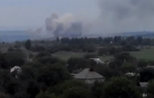 """Очень """"горячий"""" понедельник: в Сети появились кадры обстрела оккупантом позиций ВСУ под Ясиноватой"""