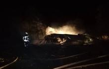 """Новое видео с места крушения военного """"Ан-26"""" под Чугуевом - самолет распался на части и сгорел"""