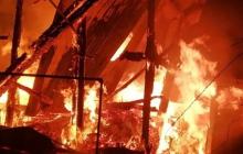 Под Полтавой неизвестные сожгли храм ПЦУ: от церкви почти ничего не осталось