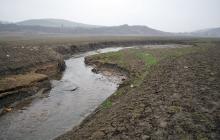 Симферопольское водохранилище высохло еще больше: новые фото с места экологической катастрофы