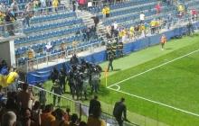 Матч Украина - Чехия закончился потасовками на стадионе. Шевченко заступался за болельщиков