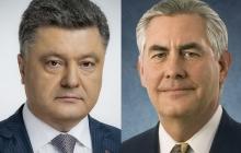 Остановить бойню на Донбассе: Петр Порошенко провел переговоры с Рексом Тиллерсоном