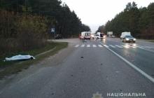 На Львовщине произошло леденящее дух ДТП с участием велосипедиста и мотоциклиста, никто из них не выжил - кадры