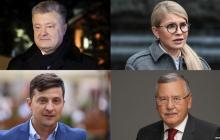 Новые рейтинги кандидатов в президенты на выборах 2019 - всеукраинский опрос