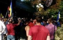 Митинг в Киеве: под стенами ГПУ жгут чучела Шокина и его заместителей