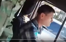 """В Запорожье водитель отказался везти АТОшника и назвал его """"халявщиком"""", играющим """"в войнушку"""", – кадры"""