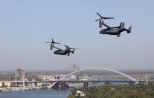 Над Киевом пролетели конвертопланы ВВС США CV-22B Osprey - кадры впечатлили Сеть