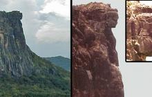 Загадочная находка в Африке: учены ломают голову, кто мог высечь каменную голову в горах 12000 лет назад, - фото
