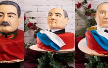 """В России сделали торты с головами Путина, Сталина и Горбачева - """"Сладкие мечты"""""""