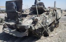 Подрыв российского БТР-82 в Сирии: видео, как турецкий тягач оттащил разбитую бронетехнику РФ