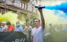 """В Киеве тысячи вышли на акцию """"200 дней лжи"""" и требовали отставки Авакова: кадры"""