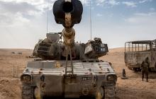Танки израильской армии ЦАХАЛ нанесли ответный удар по позициям ХАМАС