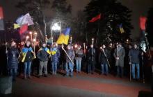 День соборности Украины в Днепре: факельное шествие от исторического музея к памятнику Тарасу Шевченко