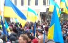 Объединительный собор в Киеве: задержаны первые провокаторы, на Софиевской площади десятки тысяч людей,- кадры