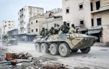 В Сирии подорван российский БТР: повстанцы взорвали бомбу под колонной бронетехники РФ у Урум-эль-Джарузы