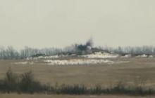 Ликвидация оккупанта: офицер ВСУ показал видео мощного удара по позициям сепаратистов на Донбассе