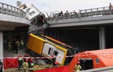 В Польше автобус с пассажирами вылетел с моста – есть погибшие