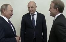 """Путин подшутил над кумом Медведчуком в Петербурге: """"Что здесь делаете, деньги делите?"""""""