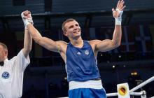 Украинец Хижняк в Минске красиво разгромил боксера РФ Бакши и прорвался в полуфинал Европейских игр - кадры