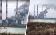 Взрыв в России на Новочеркасской ГРЭС: разорваны трубы и металлические конструкции, все пылает