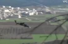 """Эрдоган безжалостно расправляется с курдами: в Сети появилось видео применения боевых вертолетов во время операции """"Оливковая ветвь"""", - кадры"""