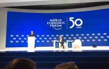 Зал во время выступления Зеленского на форуме в Давосе не был полностью заполненным