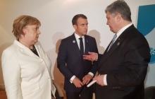 Порошенко, Макрон и Меркель провели переговоры по поводу фейковых выборов в ОРДЛО