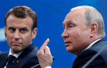 Макрон позвонил Путину после варварской выходки чеченца во Франции