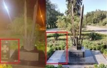 В Кременчуге вандалы изуродовали памятный знак героям АТО