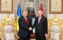 Эрдоган на встрече с Порошенко: Крым – это Украина, Турция никогда не признает российскую оккупацию Крыма