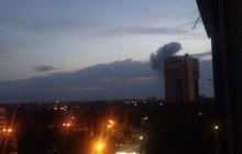 После взрыва в Донецке загорелся химзавод