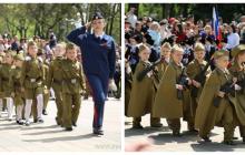 """Вчера на """"параде детсадовцев"""" в Пятигорске часть детей шла с игрушечными американскими М-16. Знаете, почему?"""