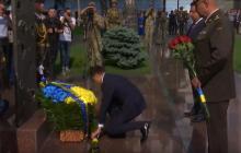 Встал на колено: Зеленский почтил память 49 погибших в катастрофе Ил-76 под Луганском
