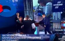 Мусий и Шерембей передрались во время политического ток-шоу, чиновники мутузили друг друга и сыпали обвинениями – кадры