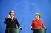 """Порошенко на встрече с Меркель: """"Украина это сделала и выдержала один из самых сложных экзаменов"""", - фото"""