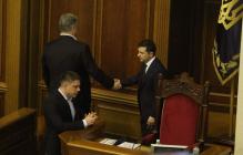 Порошенко и Зеленский столкнулись лицом к лицу в Раде и отреагировали по-мужски, фото