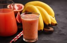 Простой рецепт приготовления бананово-грейпфрутового смузи: это молодость и здоровье организма