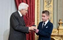 14-летний украинец-вундеркинд Моряк получил награду из рук президента Италии - подробности