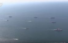 В Черном море выстроилась эскадра боевых кораблей: невероятное видео с Sea Breeze - 2019
