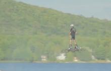 Канадский изобретатель пролетел на ховерборде почти 300 м, установив рекорд
