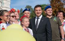 Зеленский в своем Facebook показал самые яркие фото с празднования Дня флага Украины - кадры