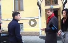 Зеленский постыдно убежал от Алексея Гончаренко и его острых вопросов на камеру – кадры