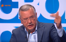 Спор в прямом эфире ICTV завершился матерной перепалкой Гриценко и Вакарчука: видео