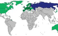Инфографика: Карта санкций Запада, введенных против России