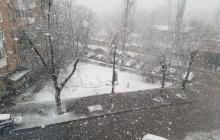 Снег в Киеве в октябре удивил жителей: столица Украины пока не готова к зиме - кадры
