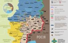 Карта АТО: Расположение сил в Донбассе от 03.01.2015.