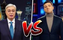 Новогоднее поздравление Зеленского и Токаева: блогер пояснил разницу между президентами