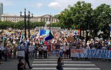 Протесты в Хабаровске: люди выступили против Путина и поддержали белорусов